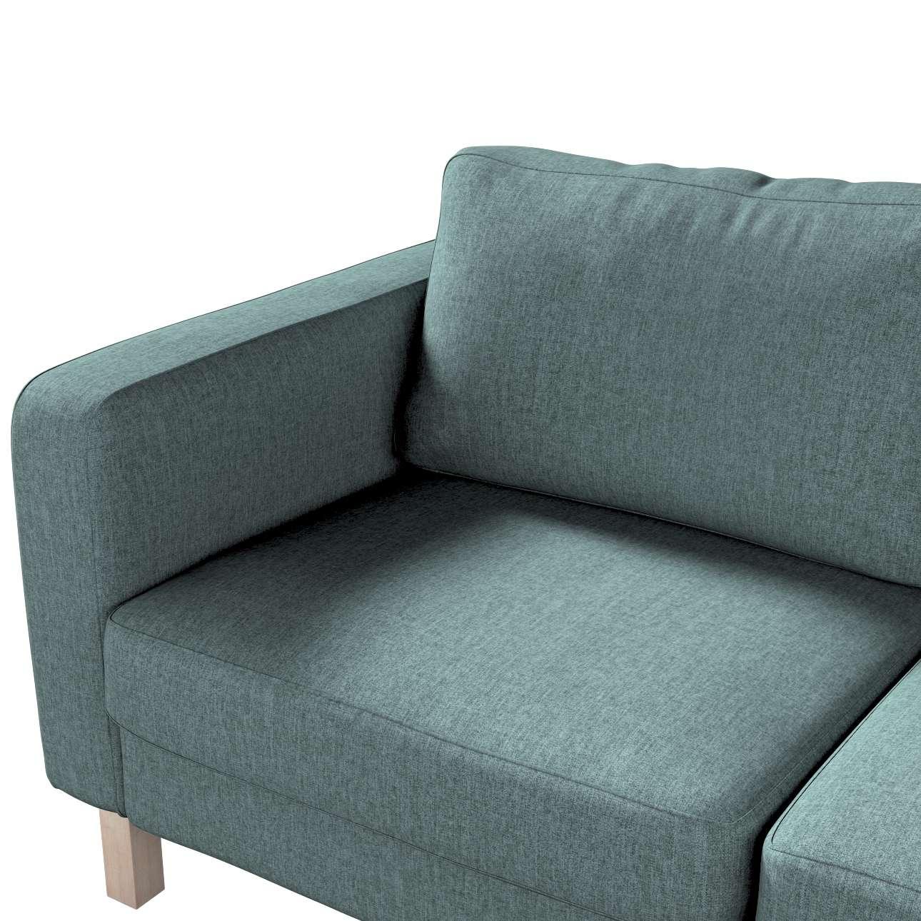 Pokrowiec na sofę Karlstad 2-osobową nierozkładaną krótki w kolekcji City, tkanina: 704-85