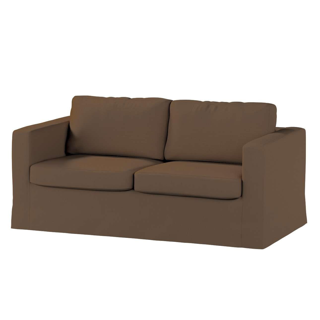 Floor length Karlstad 2-seater sofa cover in collection Panama Cotton, fabric: 702-02