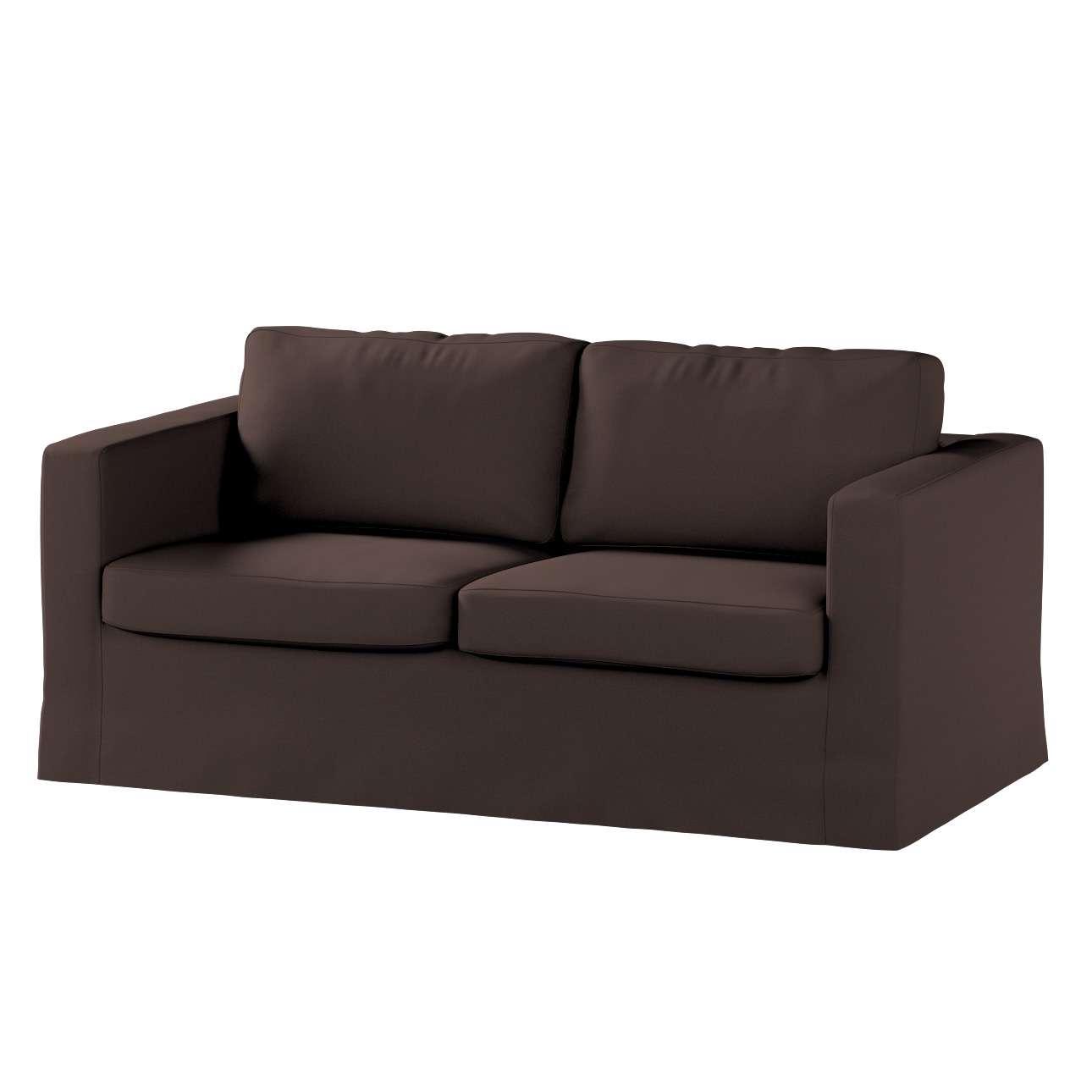 Pokrowiec na sofę Karlstad 2-osobową nierozkładaną długi Sofa Karlstad 2-osobowa w kolekcji Cotton Panama, tkanina: 702-03