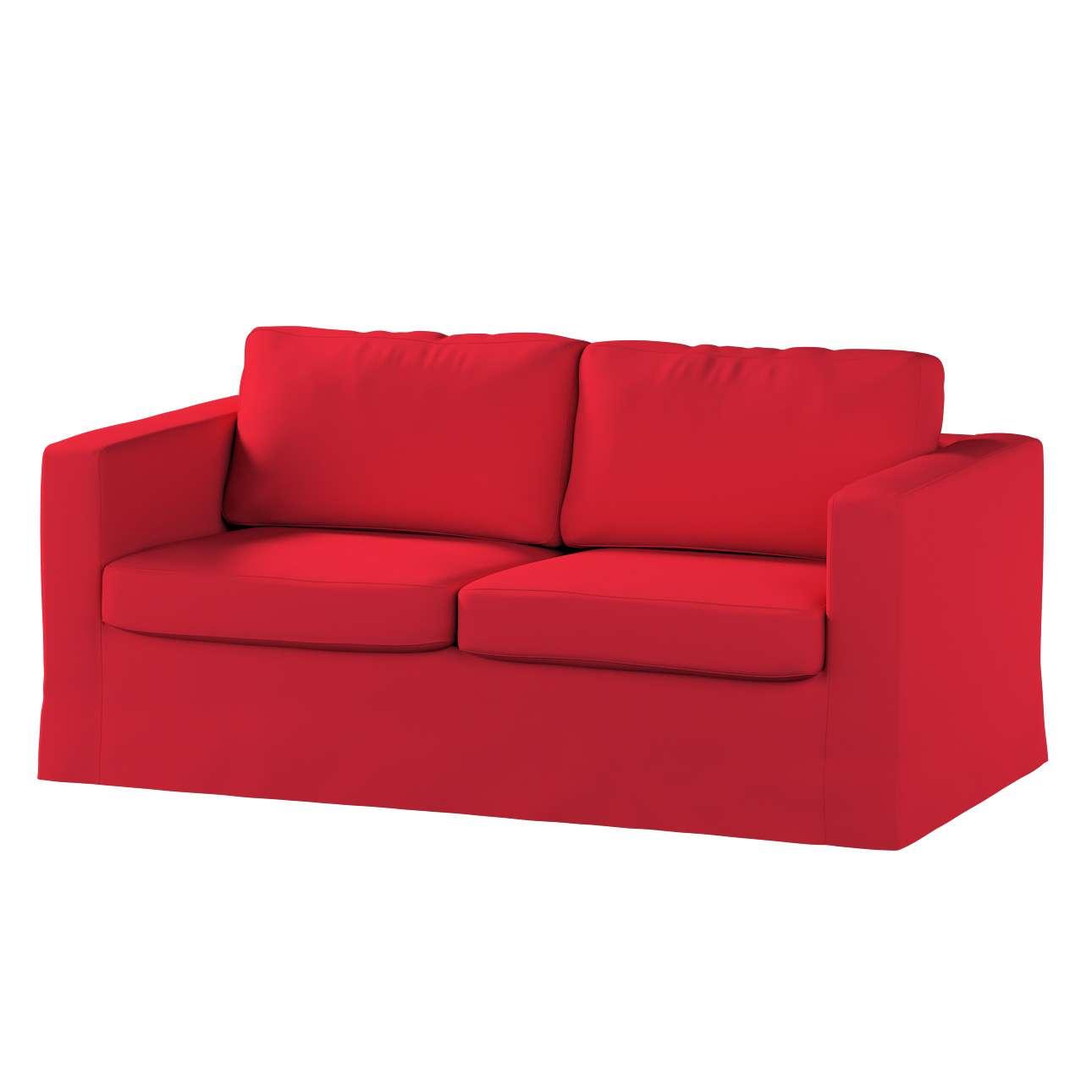 Pokrowiec na sofę Karlstad 2-osobową nierozkładaną długi Sofa Karlstad 2-osobowa w kolekcji Cotton Panama, tkanina: 702-04