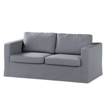 Floor length Karlstad 2-seater sofa cover in collection Panama Cotton, fabric: 702-07