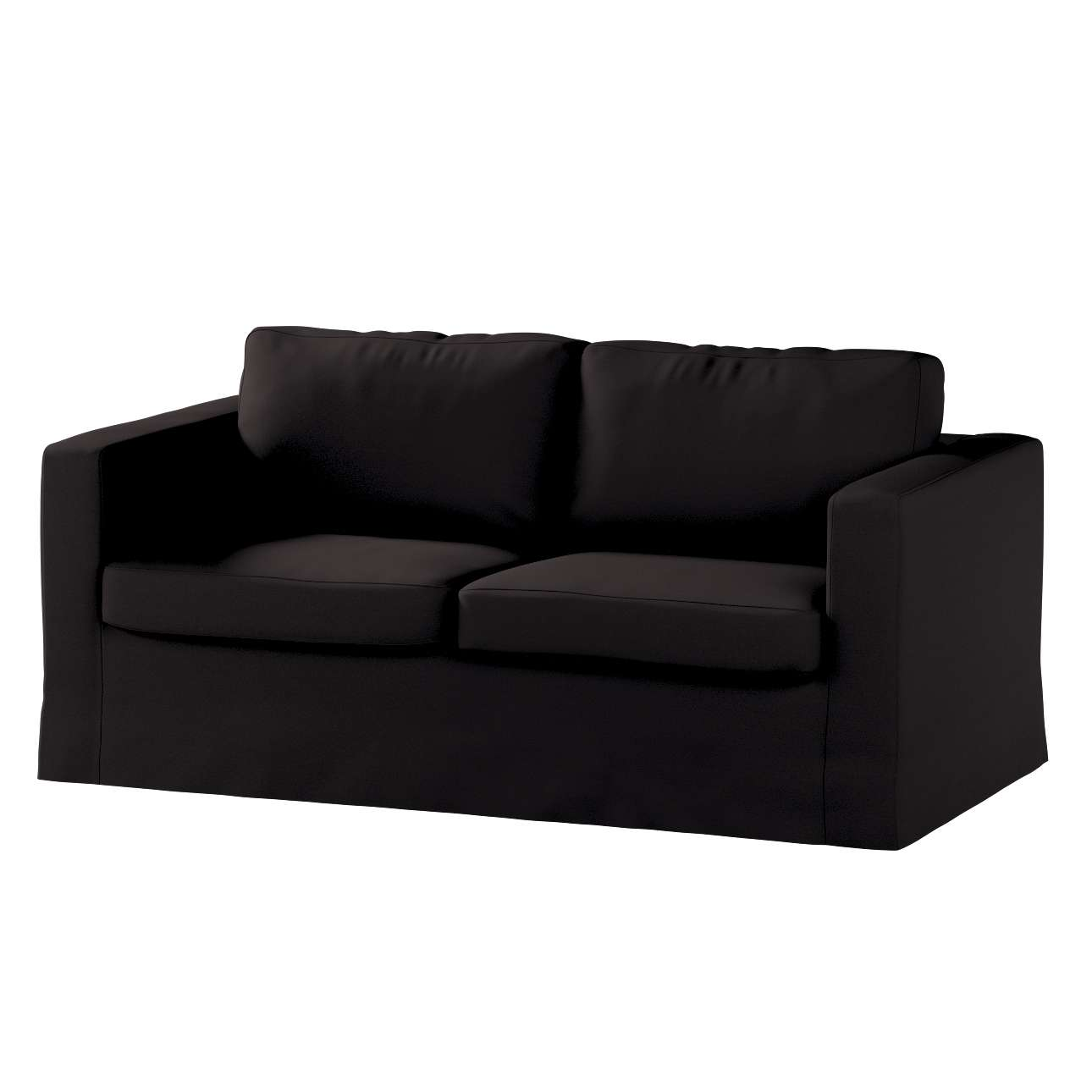 Floor length Karlstad 2-seater sofa cover in collection Panama Cotton, fabric: 702-09