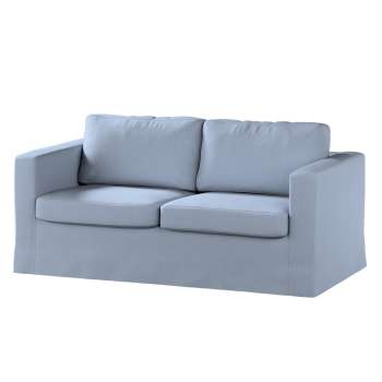 Floor length Karlstad 2-seater sofa cover in collection Chenille, fabric: 702-13