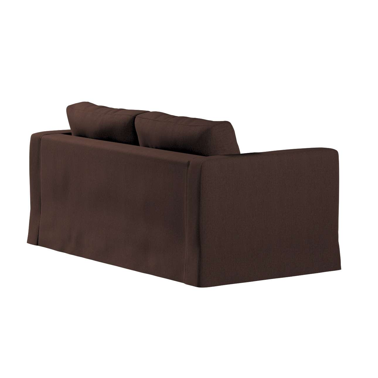 Floor length Karlstad 2-seater sofa cover in collection Chenille, fabric: 702-18
