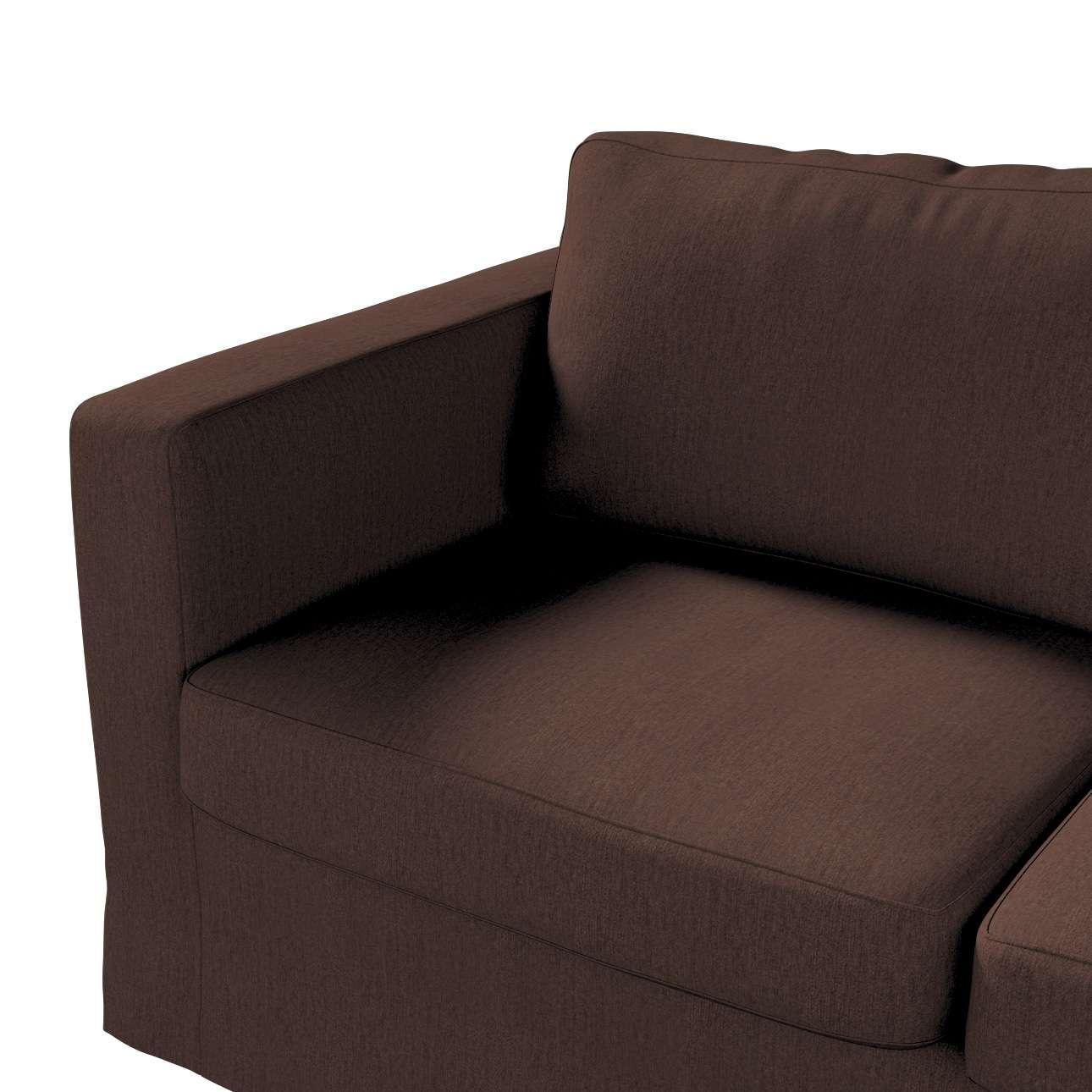 Pokrowiec na sofę Karlstad 2-osobową nierozkładaną długi w kolekcji Chenille, tkanina: 702-18