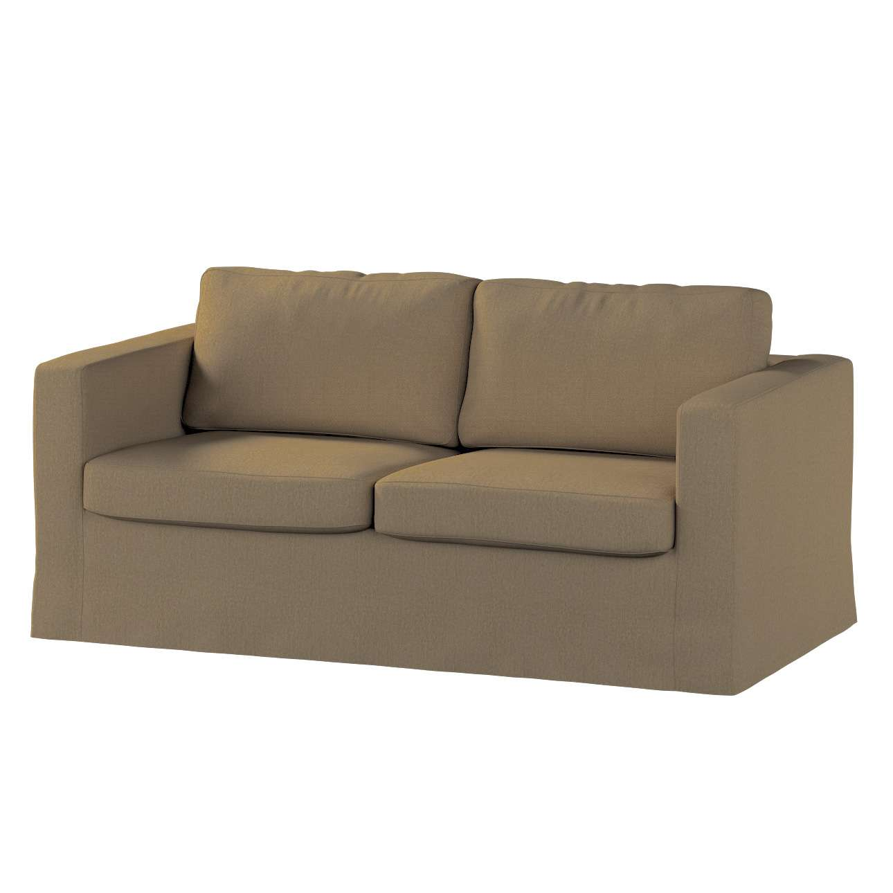Floor length Karlstad 2-seater sofa cover in collection Chenille, fabric: 702-21