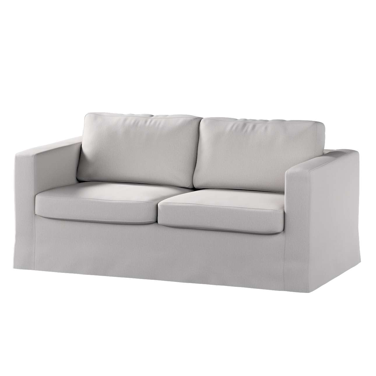 Floor length Karlstad 2-seater sofa cover in collection Chenille, fabric: 702-23