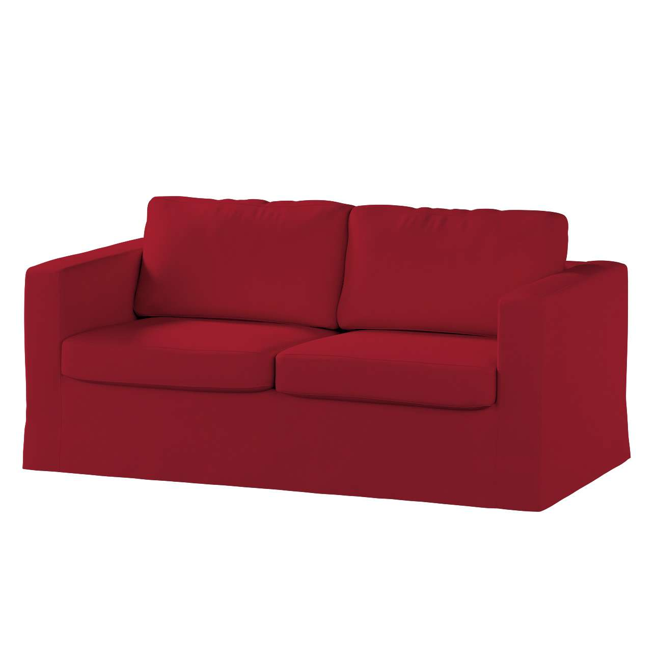 Floor length Karlstad 2-seater sofa cover in collection Chenille, fabric: 702-24
