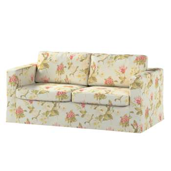 Floor length Karlstad 2-seater sofa cover in collection Londres, fabric: 123-65