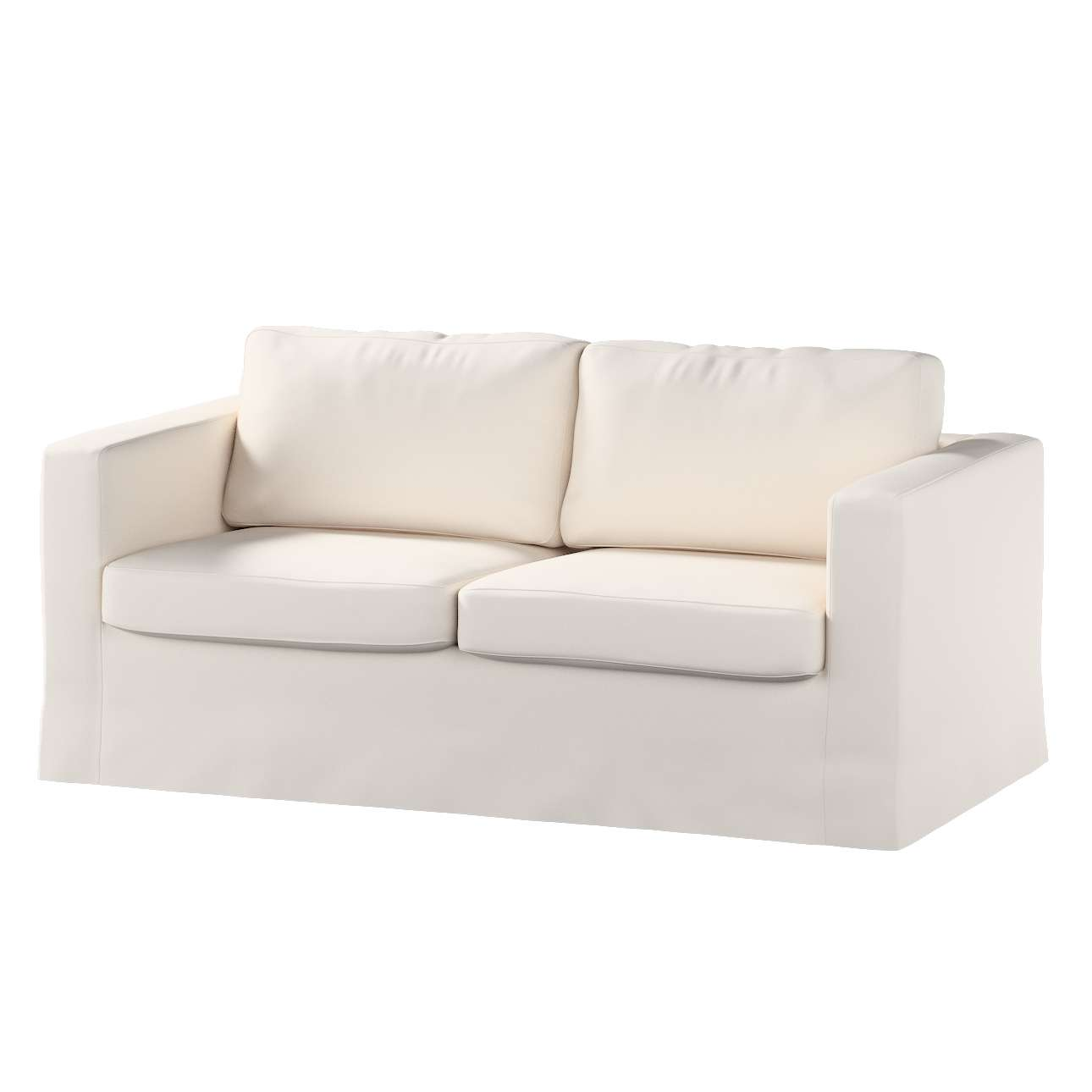 Floor length Karlstad 2-seater sofa cover in collection Etna, fabric: 705-01