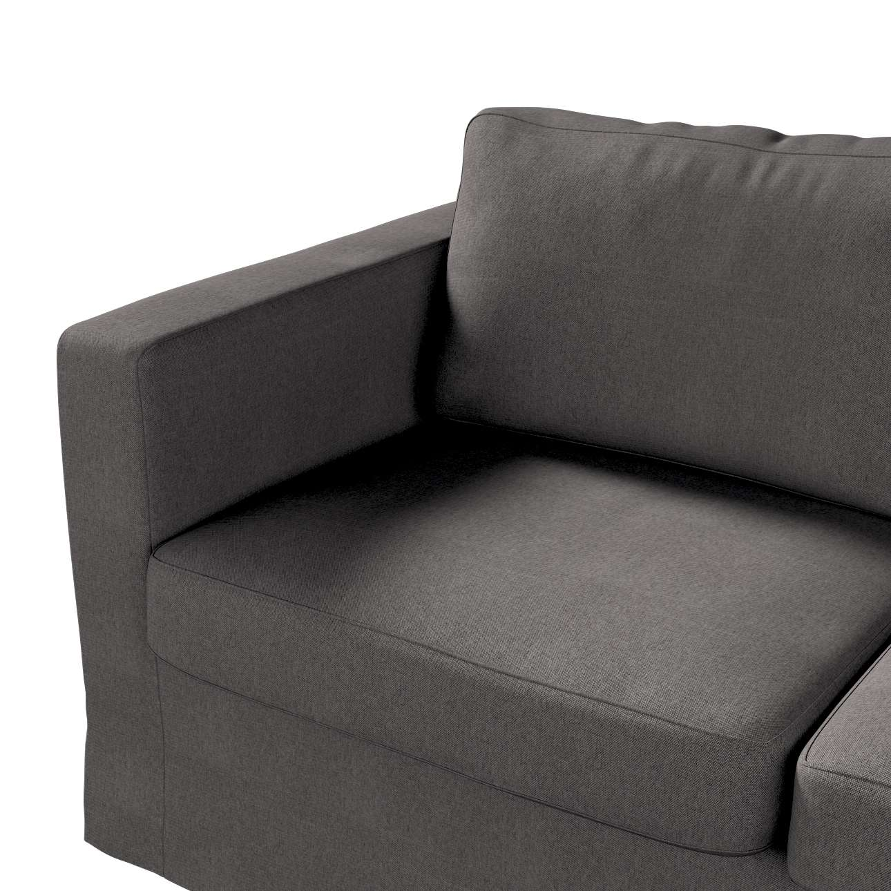 Floor length Karlstad 2-seater sofa cover in collection Etna, fabric: 705-35