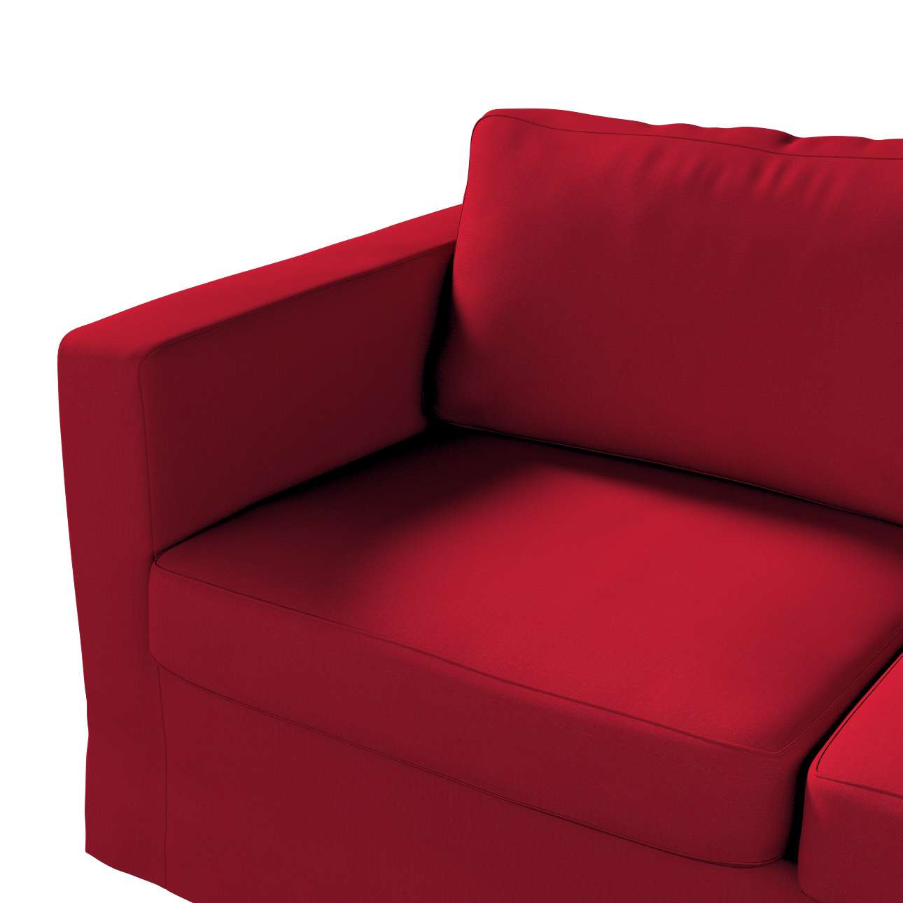 Floor length Karlstad 2-seater sofa cover in collection Etna, fabric: 705-60