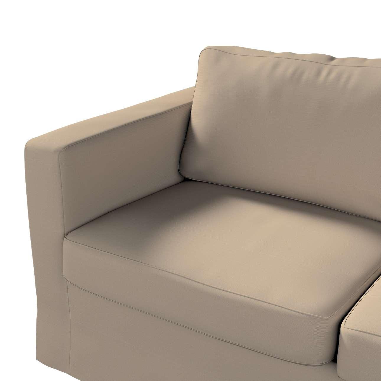 Pokrowiec na sofę Karlstad 2-osobową nierozkładaną długi w kolekcji Cotton Panama, tkanina: 702-28