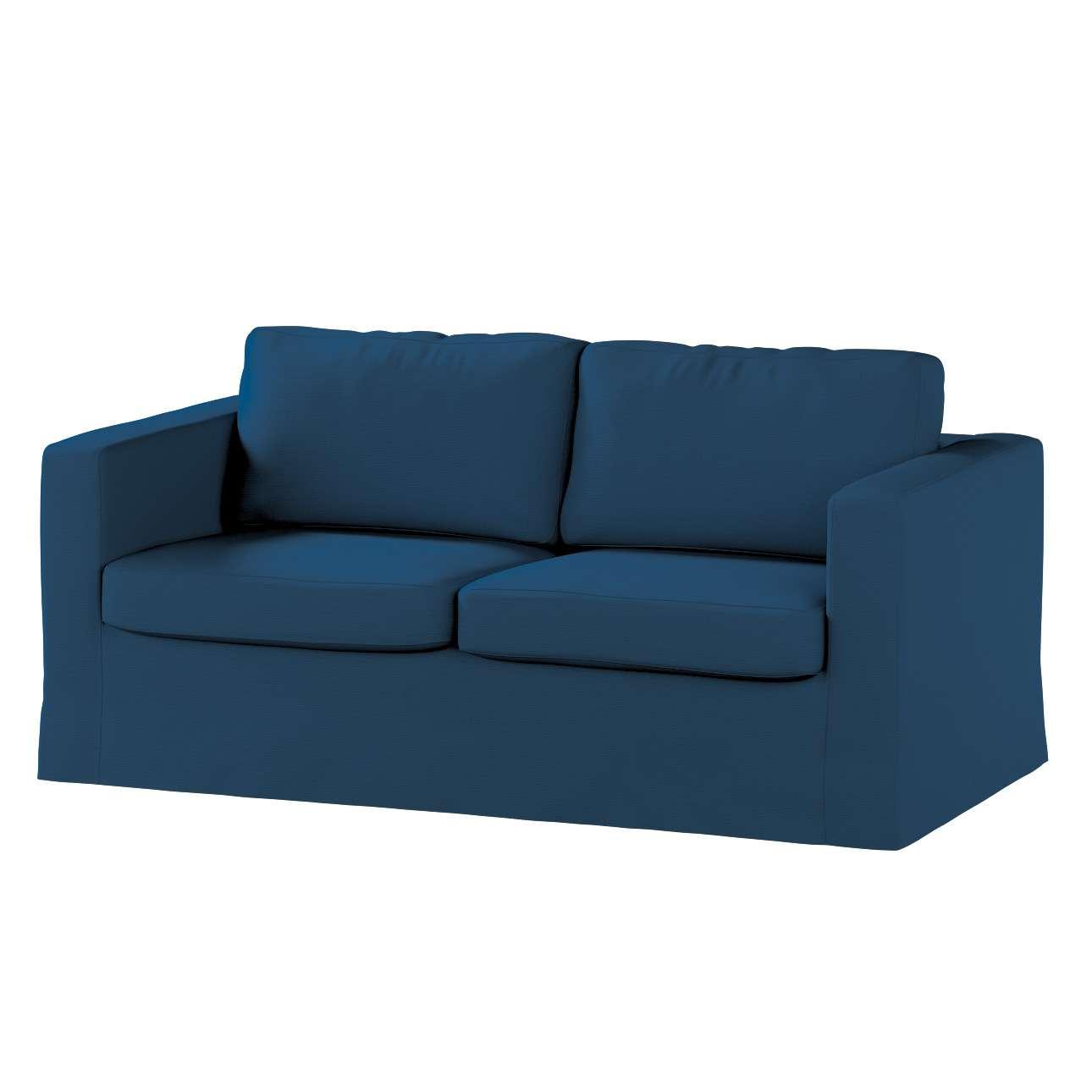 Pokrowiec na sofę Karlstad 2-osobową nierozkładaną długi Sofa Karlstad 2-osobowa w kolekcji Cotton Panama, tkanina: 702-30