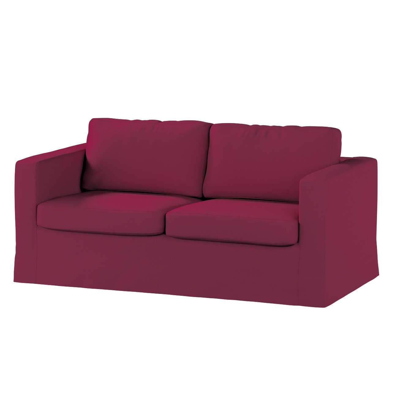 Pokrowiec na sofę Karlstad 2-osobową nierozkładaną długi Sofa Karlstad 2-osobowa w kolekcji Cotton Panama, tkanina: 702-32