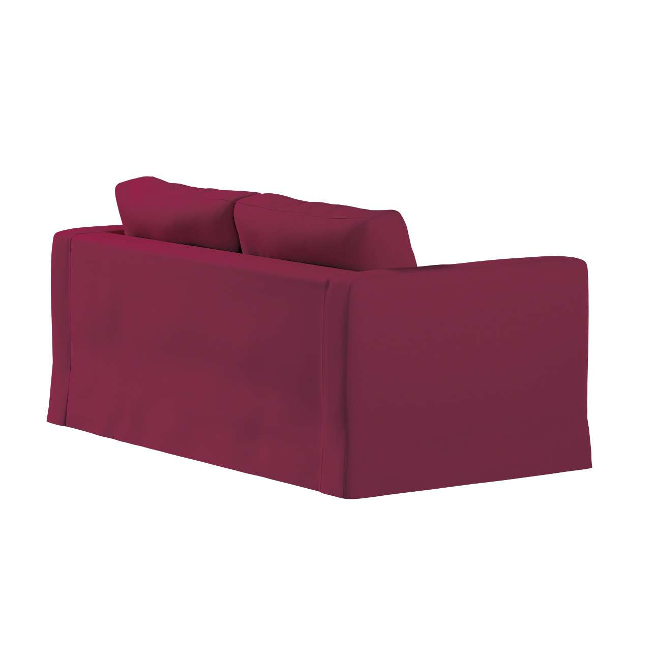 Floor length Karlstad 2-seater sofa cover in collection Panama Cotton, fabric: 702-32