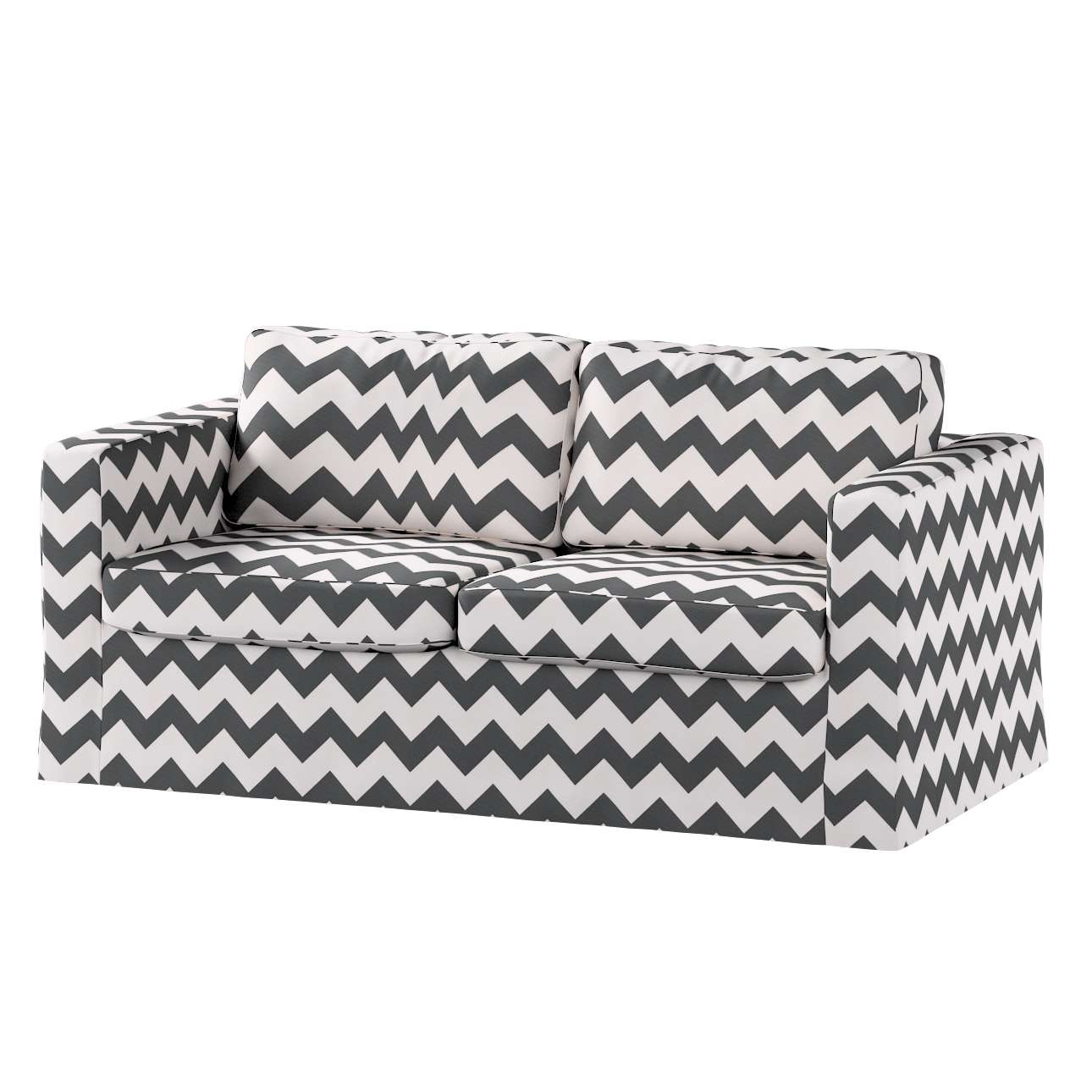 Floor length Karlstad 2-seater sofa cover in collection Comics/Geometrical, fabric: 135-02