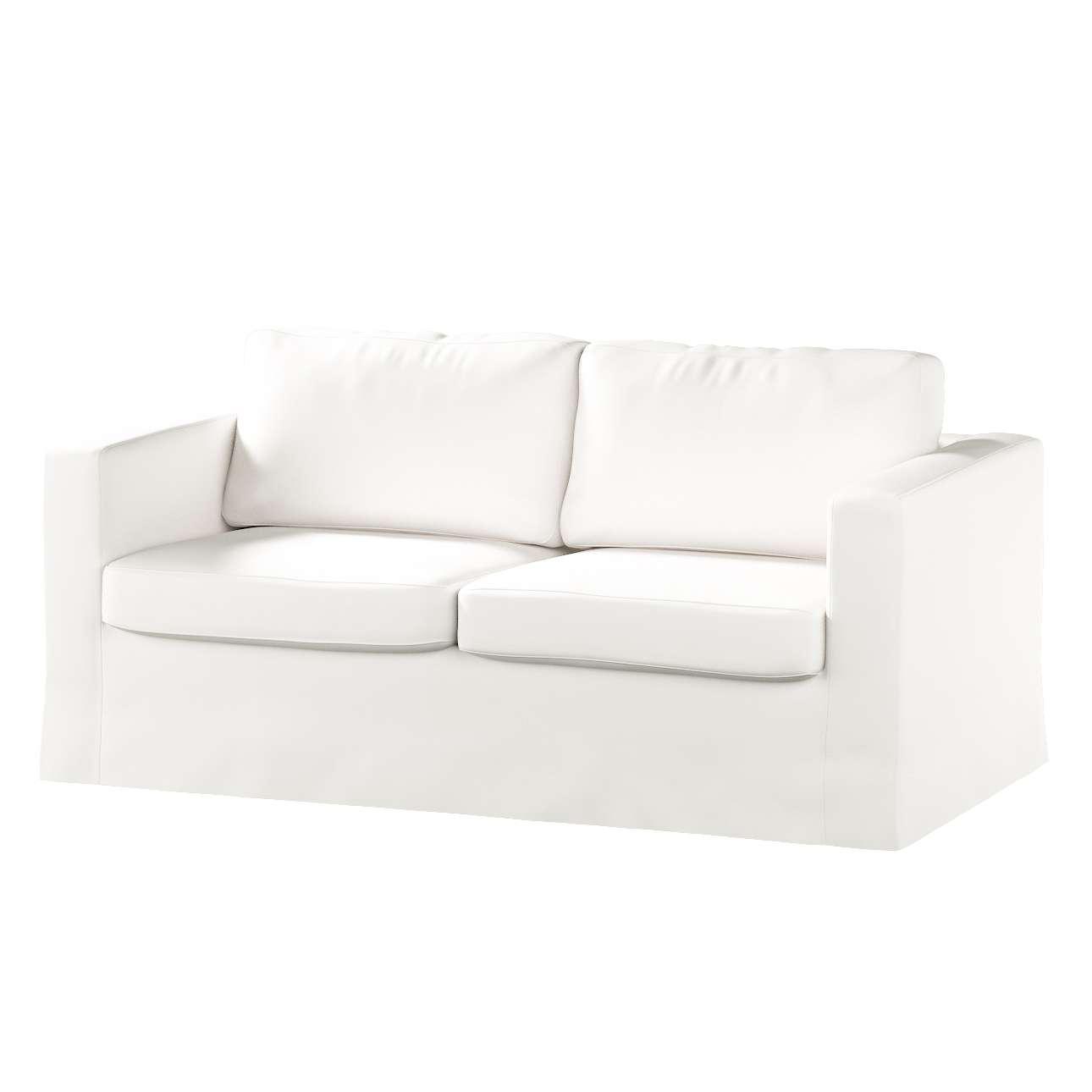 Pokrowiec na sofę Karlstad 2-osobową nierozkładaną długi w kolekcji Cotton Panama, tkanina: 702-34