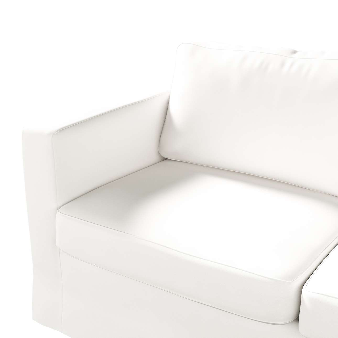 Floor length Karlstad 2-seater sofa cover in collection Panama Cotton, fabric: 702-34