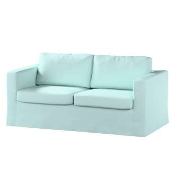 Floor length Karlstad 2-seater sofa cover in collection Panama Cotton, fabric: 702-10
