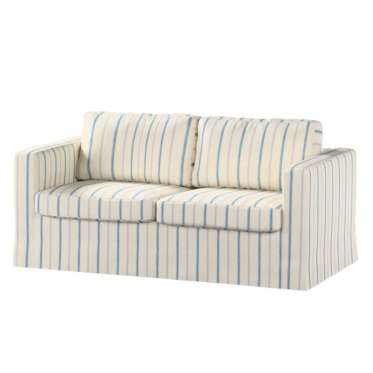 Floor length Karlstad 2-seater sofa cover in collection Avinon, fabric: 129-66