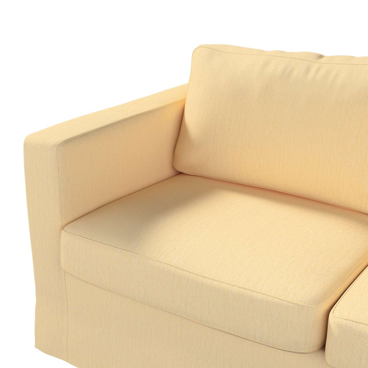 Floor length Karlstad 2-seater sofa cover in collection Madrid, fabric: 160-49