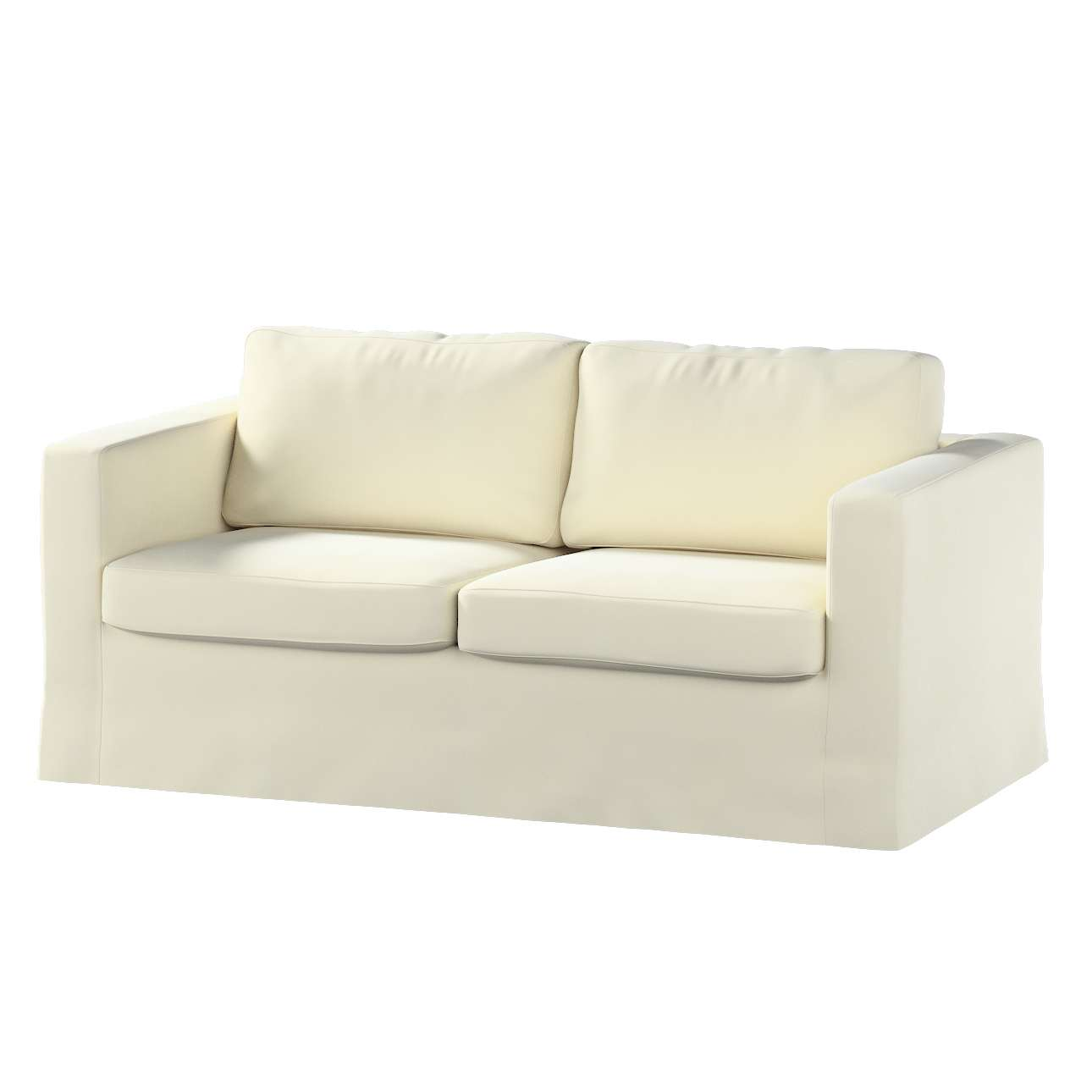 Floor length Karlstad 2-seater sofa cover in collection Velvet, fabric: 704-10