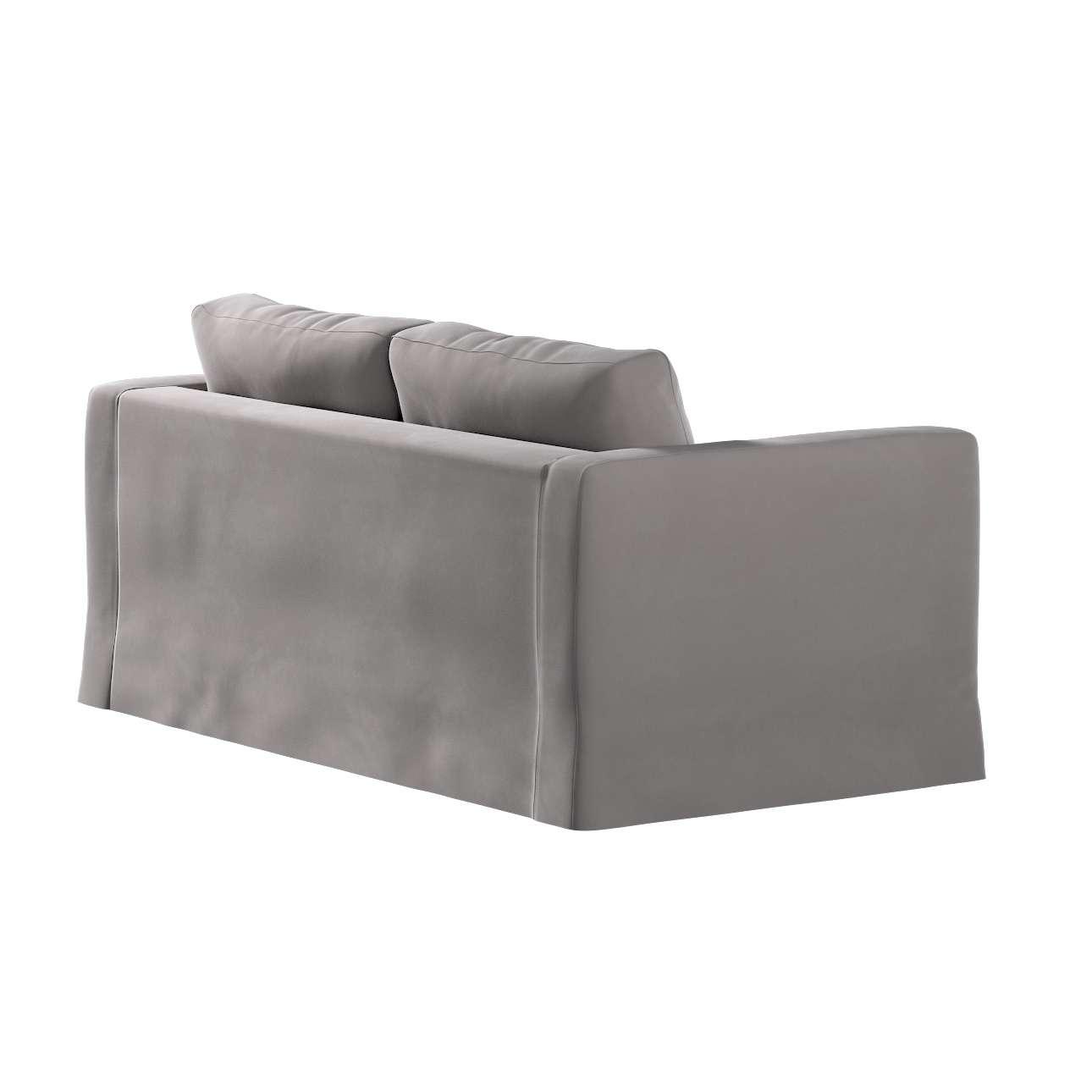 Floor length Karlstad 2-seater sofa cover in collection Velvet, fabric: 704-11