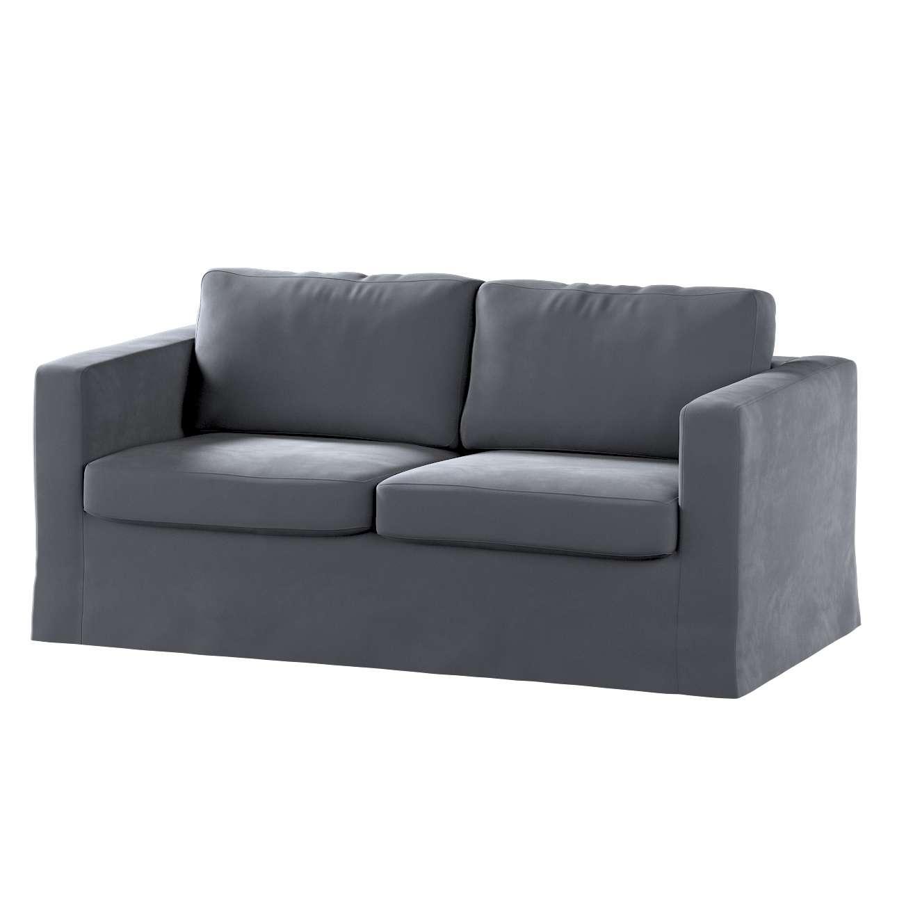 Pokrowiec na sofę Karlstad 2-osobową nierozkładaną długi w kolekcji Velvet, tkanina: 704-12