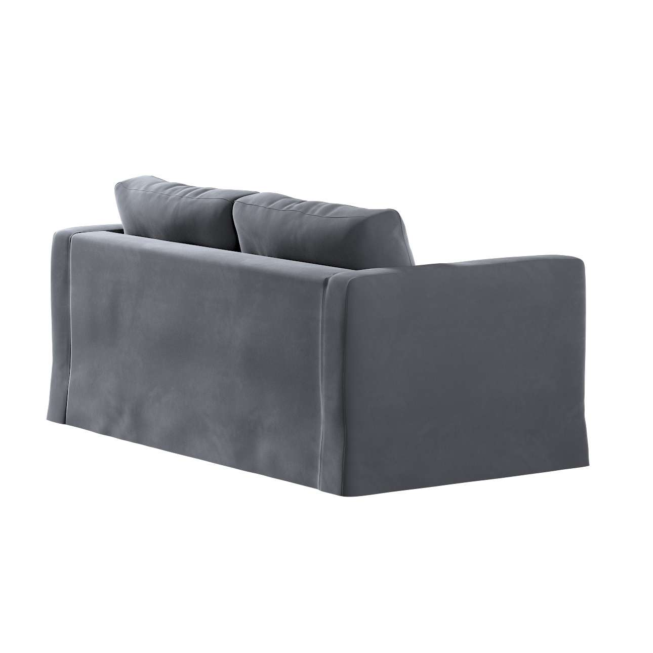 Floor length Karlstad 2-seater sofa cover in collection Velvet, fabric: 704-12