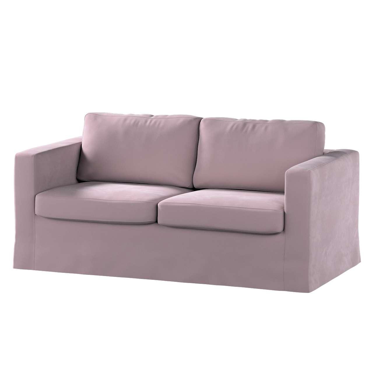 Floor length Karlstad 2-seater sofa cover in collection Velvet, fabric: 704-14