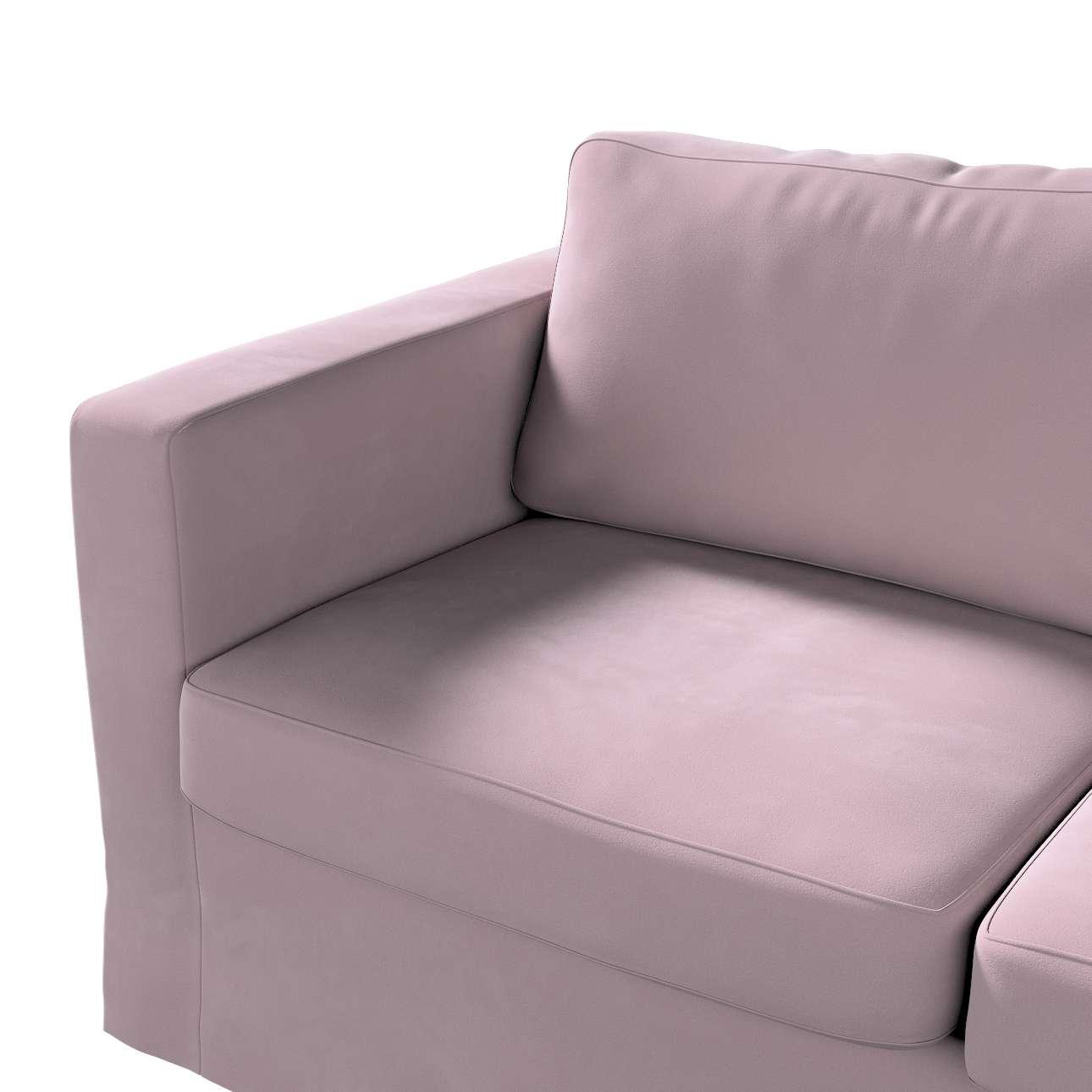 Pokrowiec na sofę Karlstad 2-osobową nierozkładaną długi w kolekcji Velvet, tkanina: 704-14