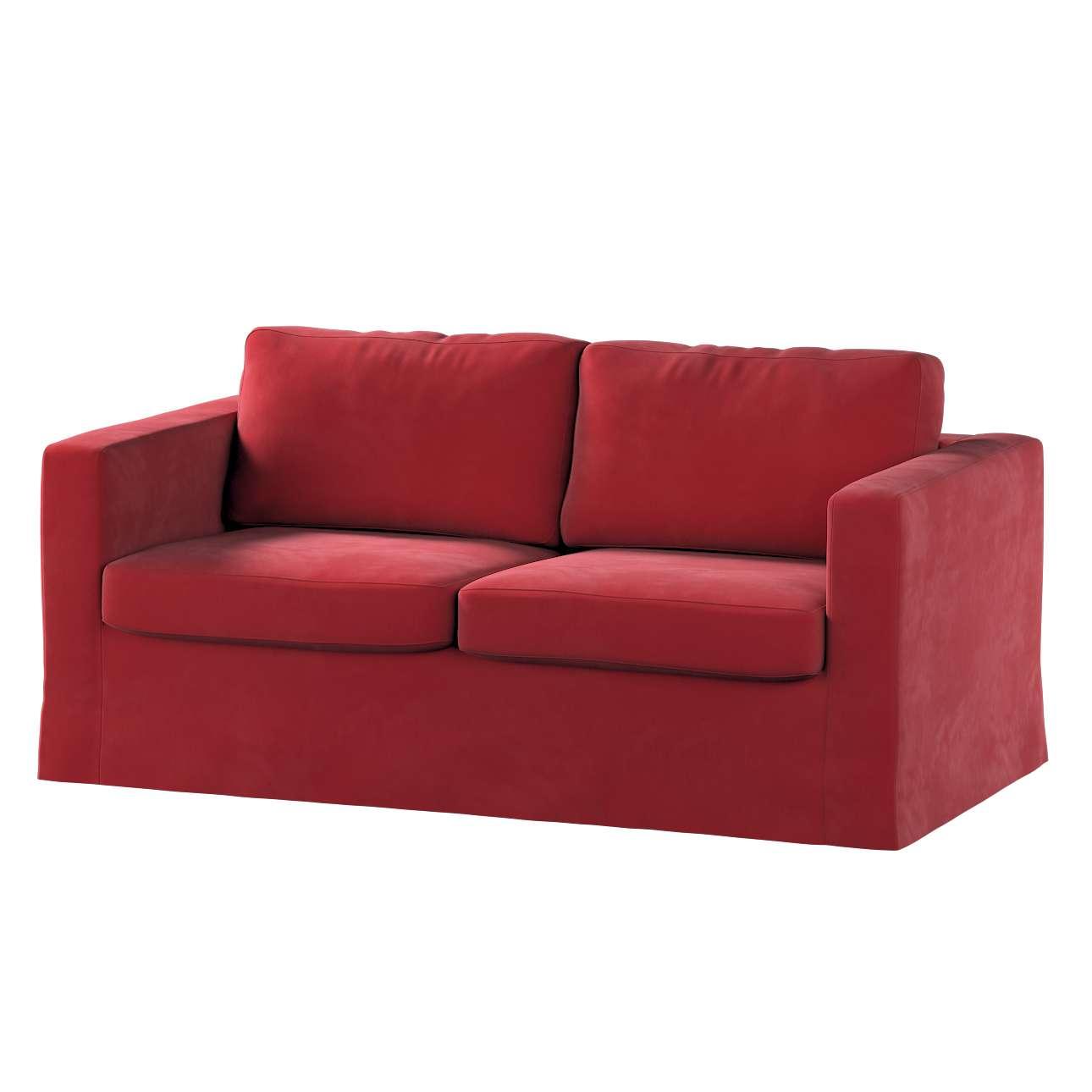 Floor length Karlstad 2-seater sofa cover in collection Velvet, fabric: 704-15