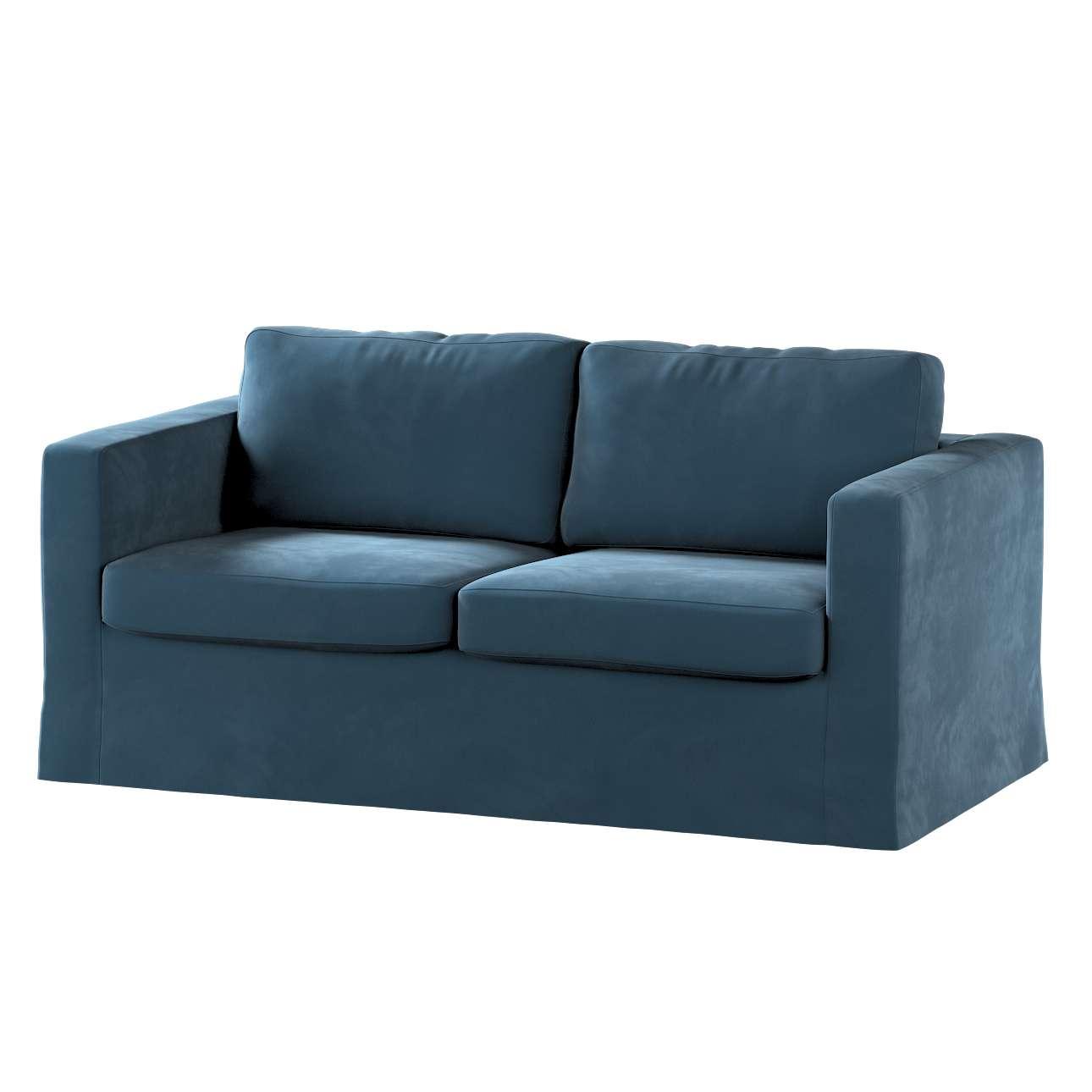 Pokrowiec na sofę Karlstad 2-osobową nierozkładaną długi w kolekcji Velvet, tkanina: 704-16