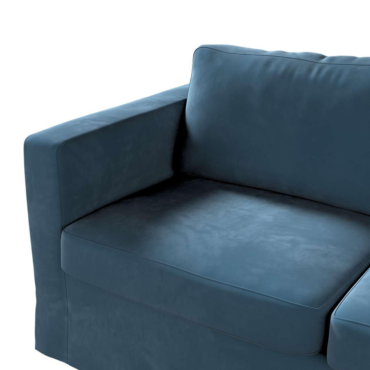 Floor length Karlstad 2-seater sofa cover in collection Velvet, fabric: 704-16