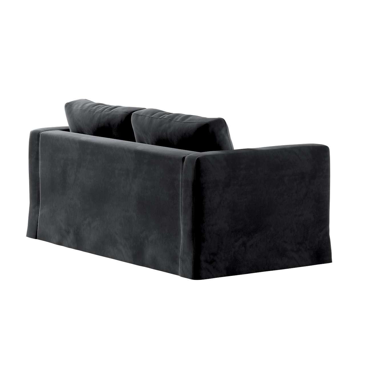 Pokrowiec na sofę Karlstad 2-osobową nierozkładaną długi w kolekcji Velvet, tkanina: 704-17