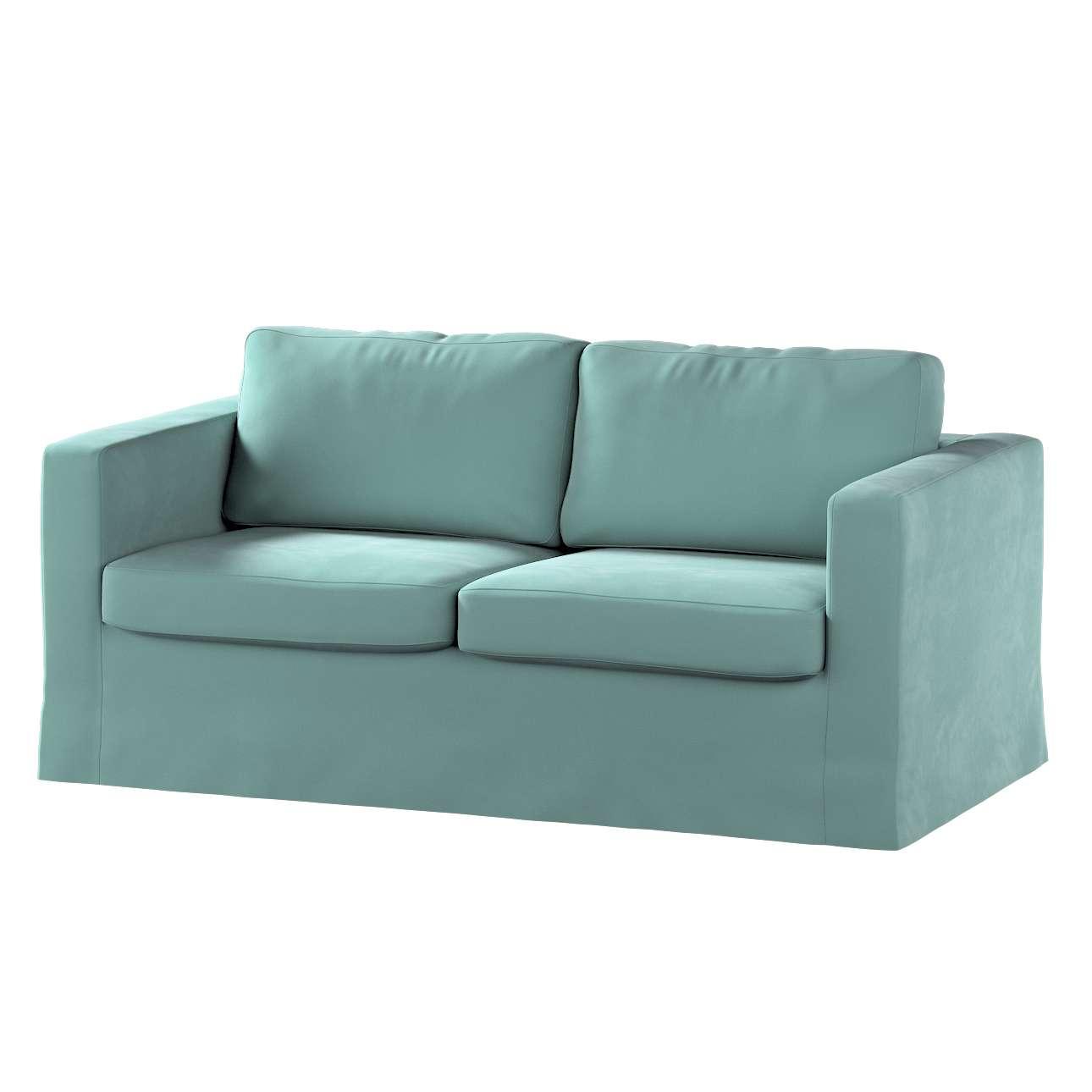 Floor length Karlstad 2-seater sofa cover in collection Velvet, fabric: 704-18