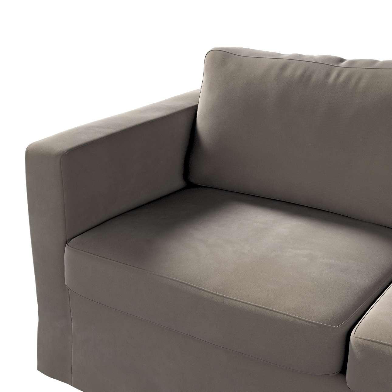 Floor length Karlstad 2-seater sofa cover in collection Velvet, fabric: 704-19