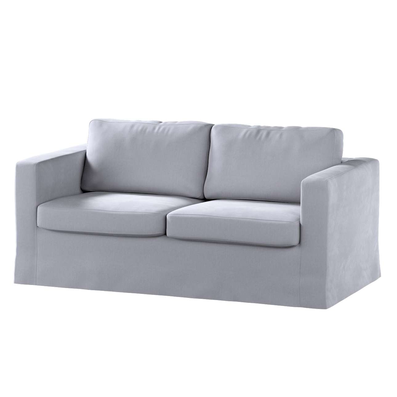 Floor length Karlstad 2-seater sofa cover in collection Velvet, fabric: 704-24