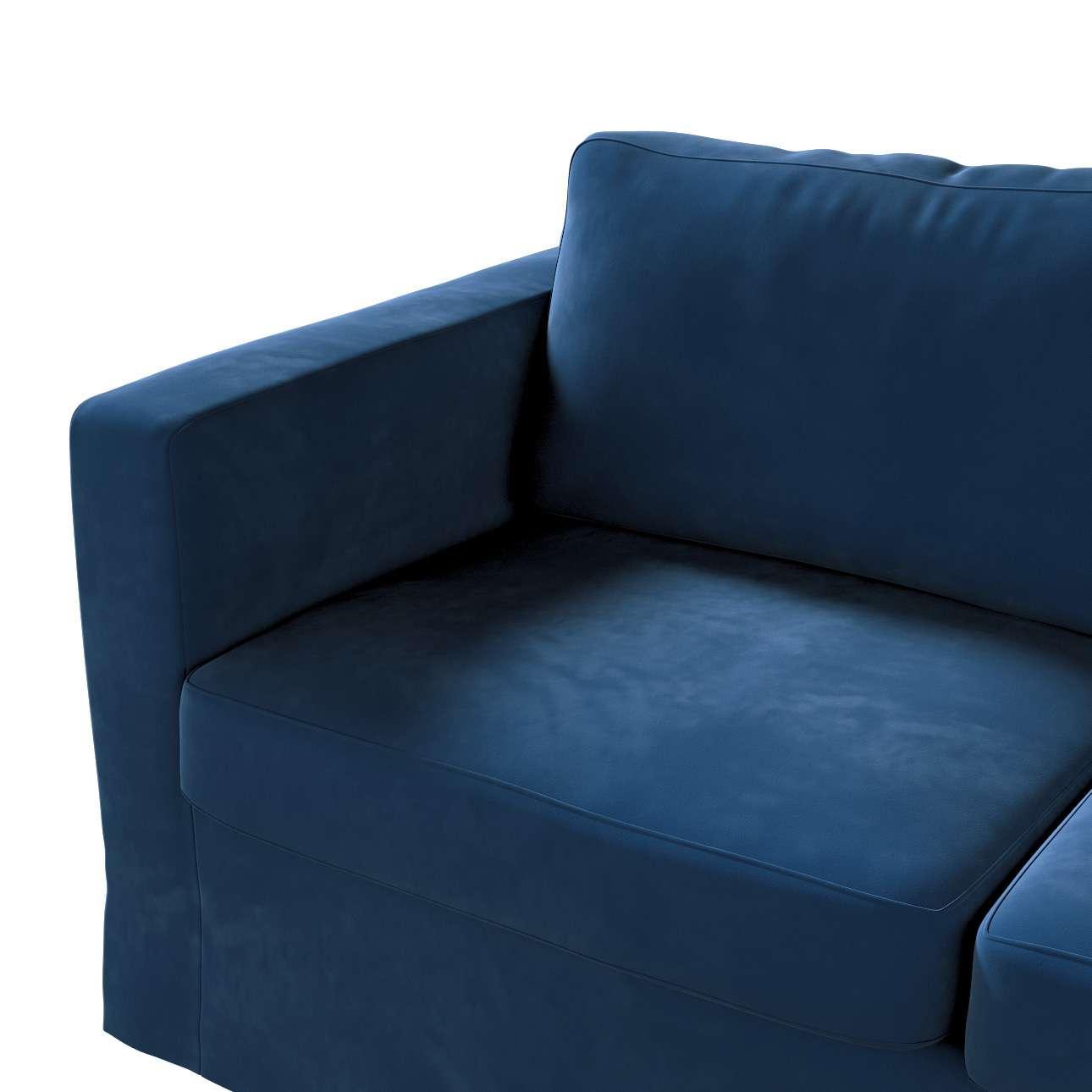 Pokrowiec na sofę Karlstad 2-osobową nierozkładaną długi w kolekcji Velvet, tkanina: 704-29