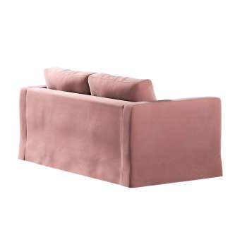 Floor length Karlstad 2-seater sofa cover in collection Velvet, fabric: 704-30