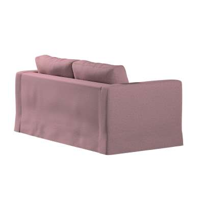 Floor length Karlstad 2-seater sofa cover 704-48 pink with black thread Collection Amsterdam