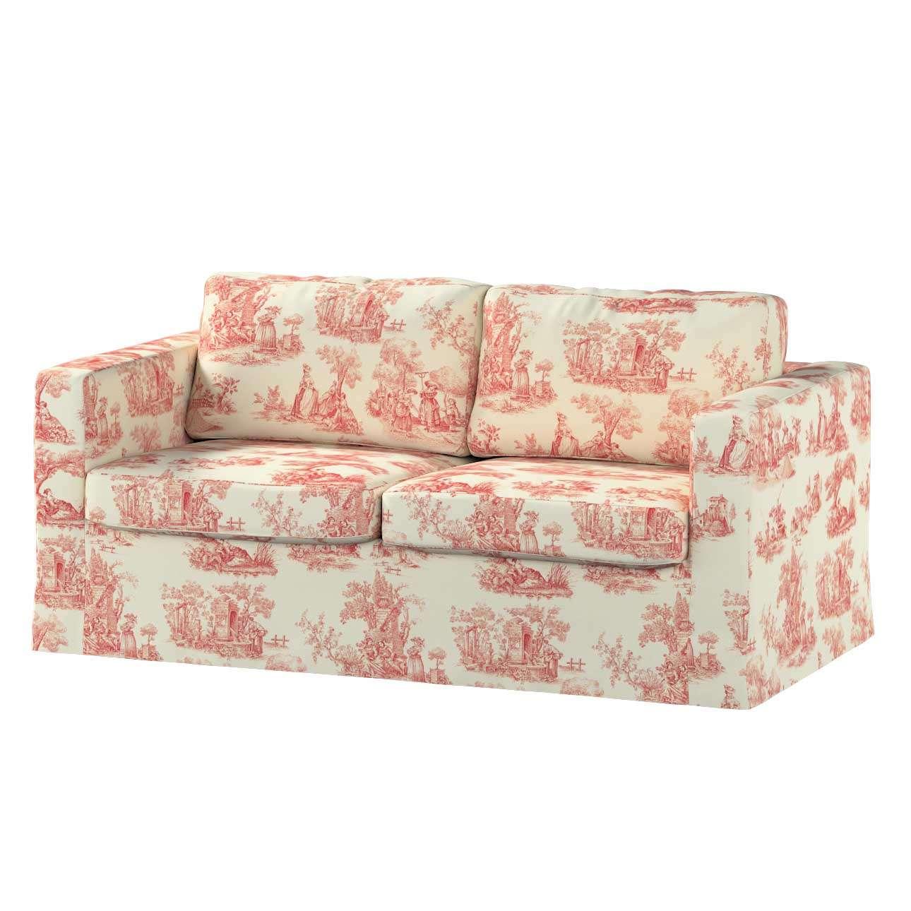 Pokrowiec na sofę Karlstad 2-osobową nierozkładaną długi Sofa Karlstad 2-osobowa w kolekcji Avinon, tkanina: 132-15