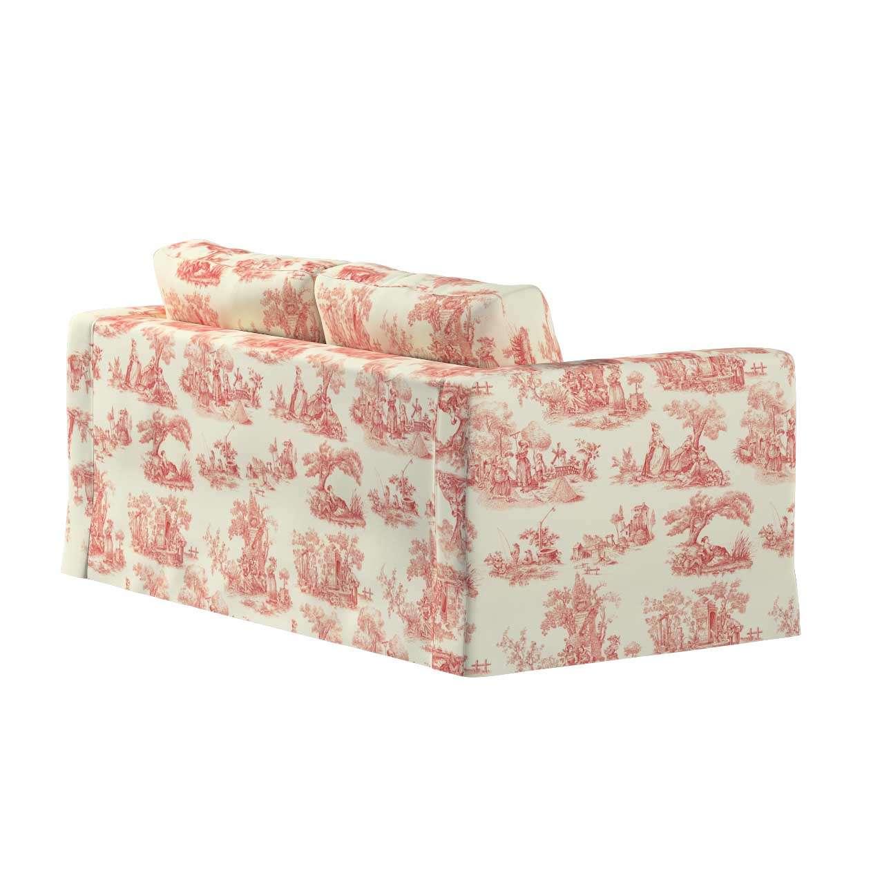 Karlstad 2-Sitzer Sofabezug nicht ausklappbar lang von der Kollektion Avinon, Stoff: 132-15