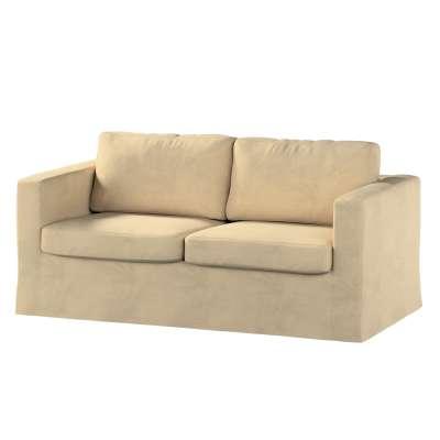 Pokrowiec na sofę Karlstad 2-osobową nierozkładaną długi w kolekcji Living, tkanina: 160-82