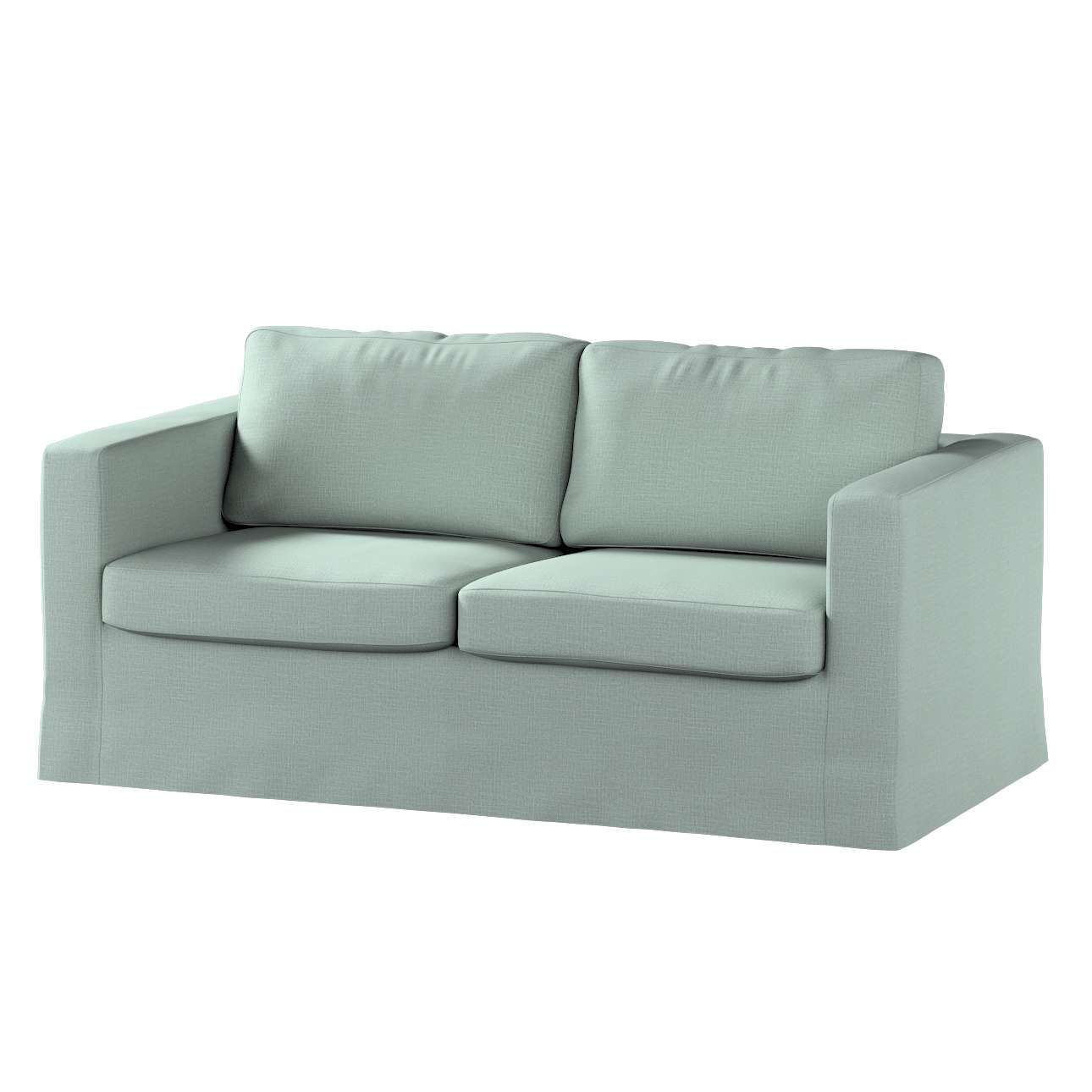 Pokrowiec na sofę Karlstad 2-osobową nierozkładaną długi w kolekcji Living II, tkanina: 160-86