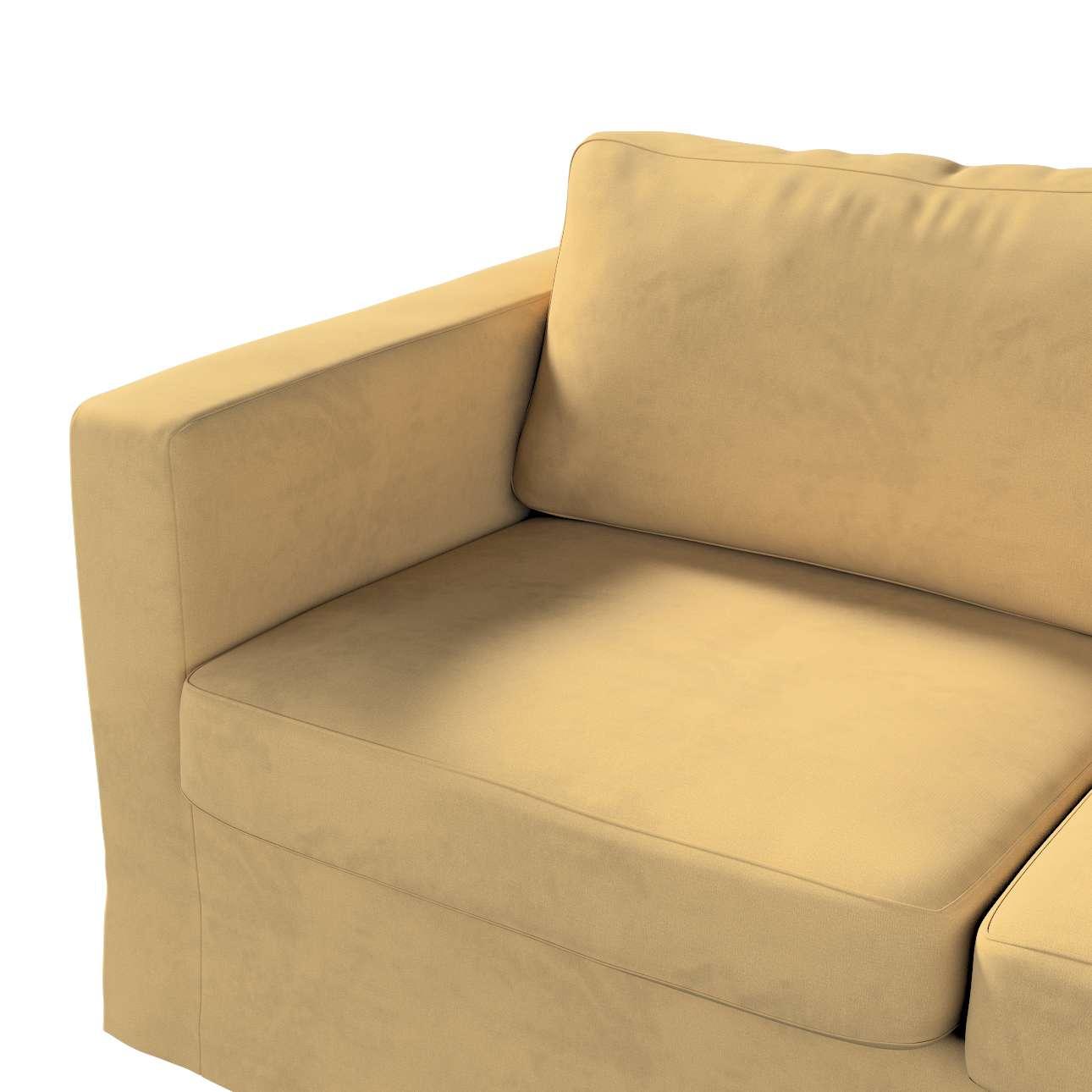 Pokrowiec na sofę Karlstad 2-osobową nierozkładaną długi w kolekcji Living II, tkanina: 160-93