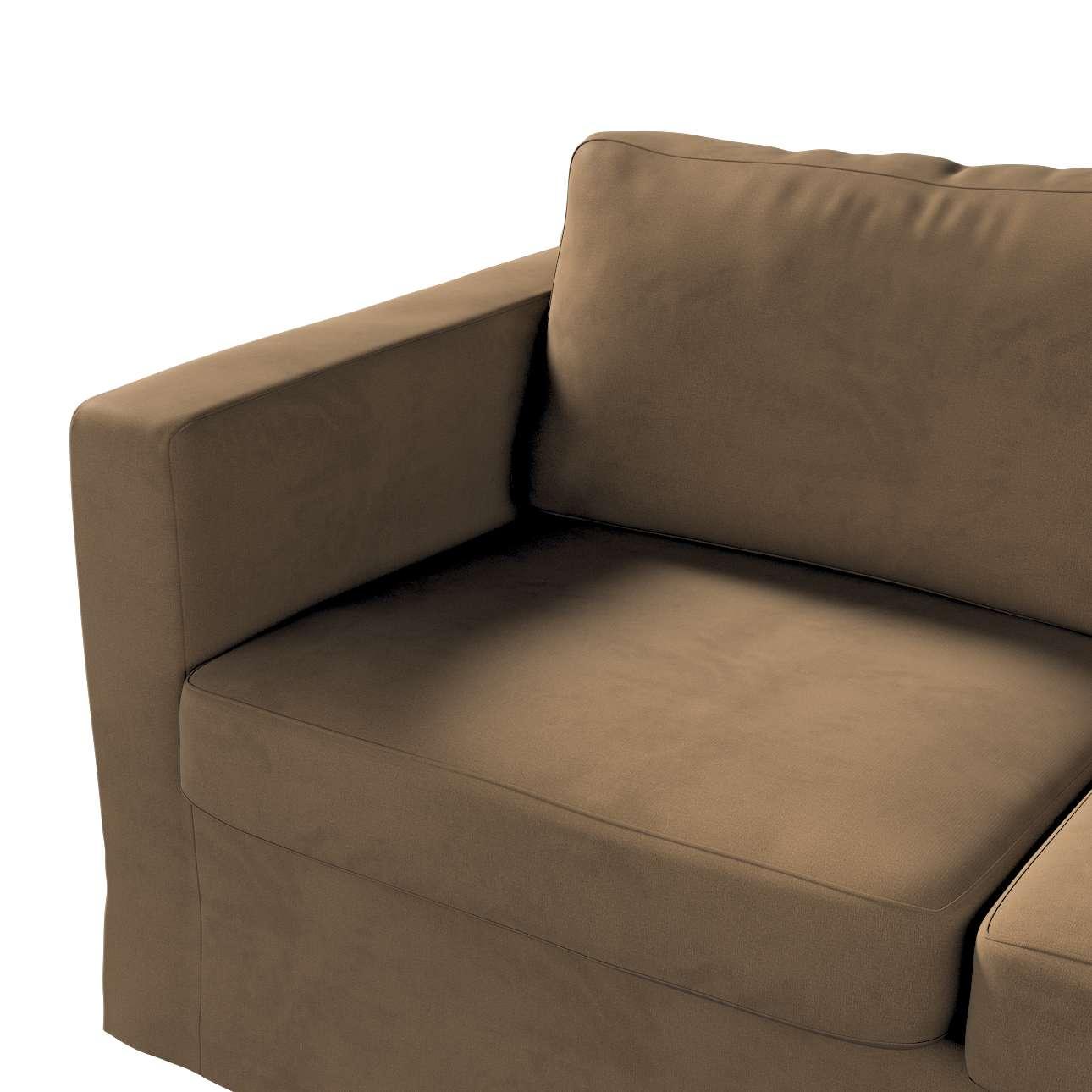 Pokrowiec na sofę Karlstad 2-osobową nierozkładaną długi w kolekcji Living, tkanina: 160-94