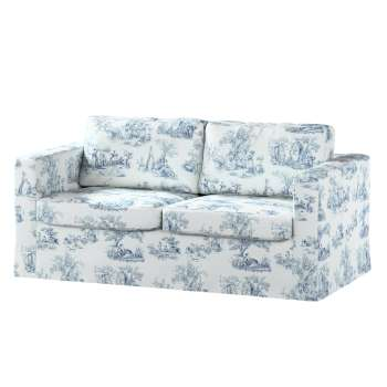 Floor length Karlstad 2-seater sofa cover in collection Avinon, fabric: 132-66