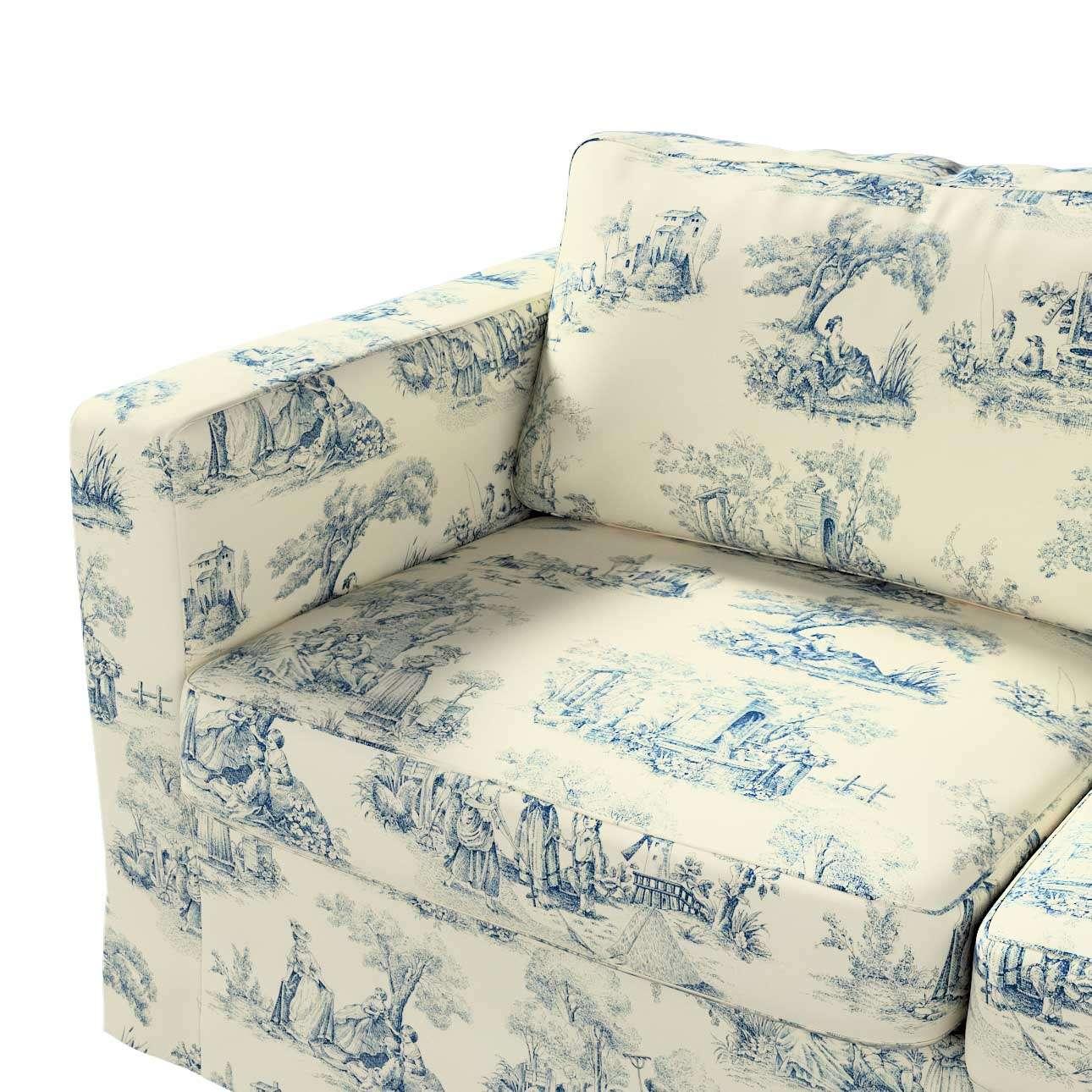 Pokrowiec na sofę Karlstad 2-osobową nierozkładaną długi w kolekcji Avinon, tkanina: 132-66